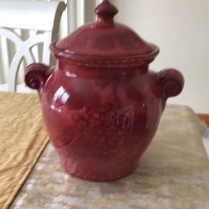 Large urn vase burgandy